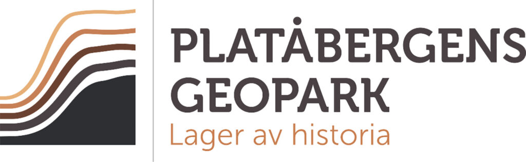 Platåbergens geopark. Logga.